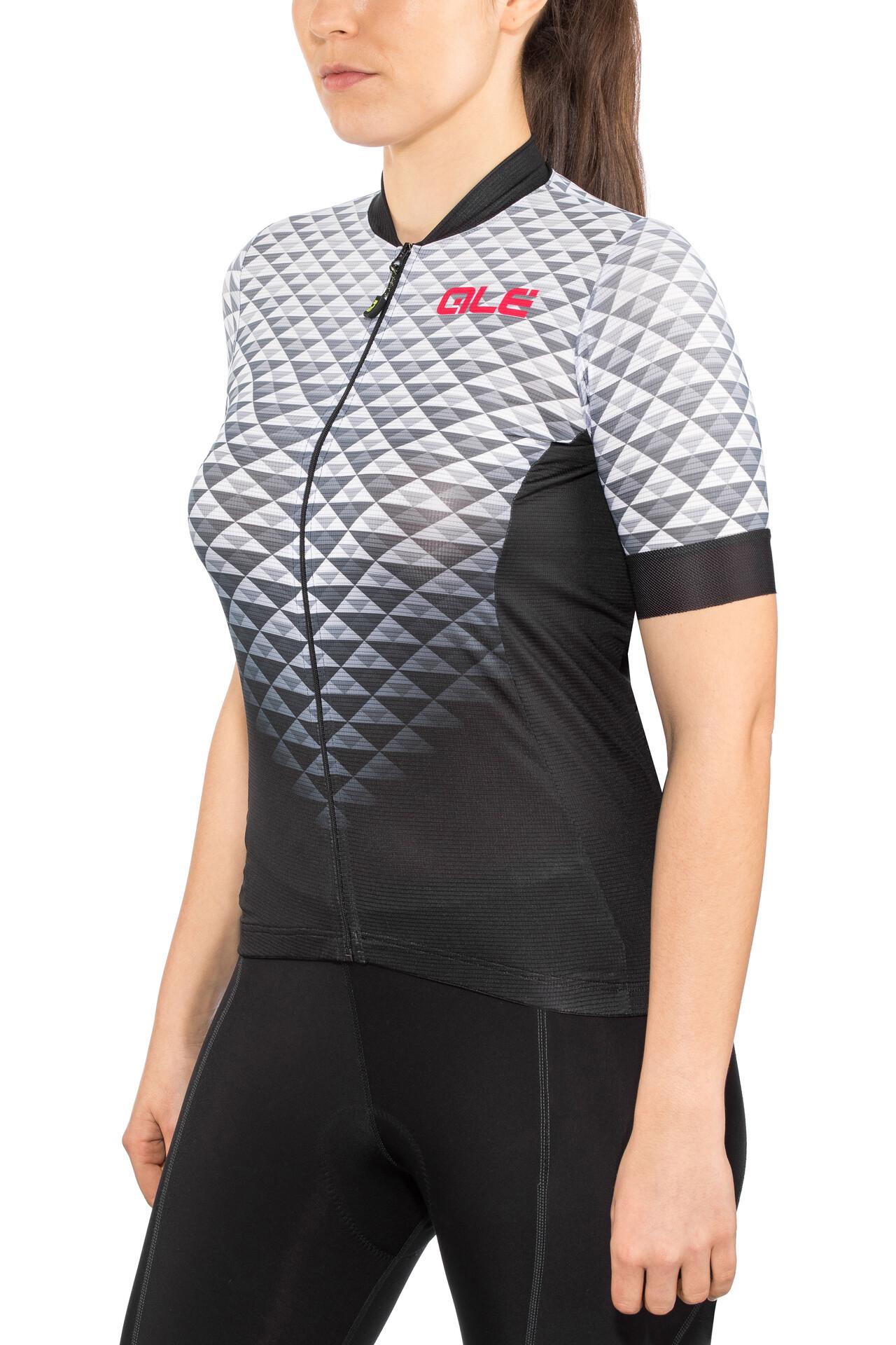 Alé Cycling Solid Hexa Maglietta a maniche corte Donna, black white
